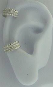 Nonpiercing Coin Edge With Slanted Edges Band Ear Cuff