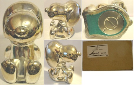 1966 Silverplate Vintage Peanuts Snoopy Full Bodied Bank