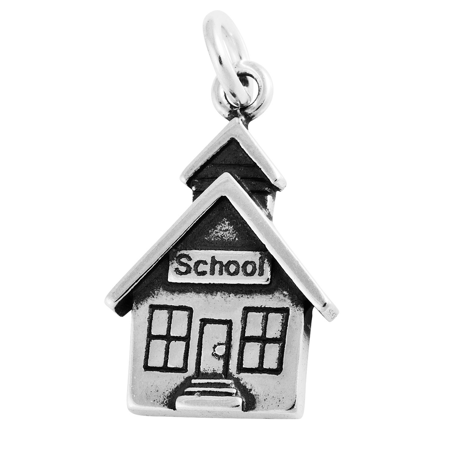 Flat School House Building Charm