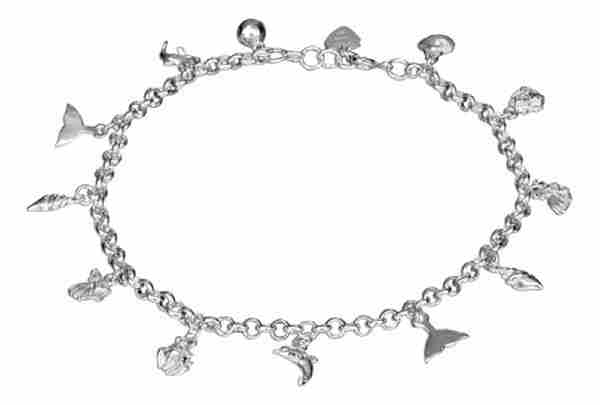 "10"" Shell Sea Creatures Charm Ankle Bracelet"