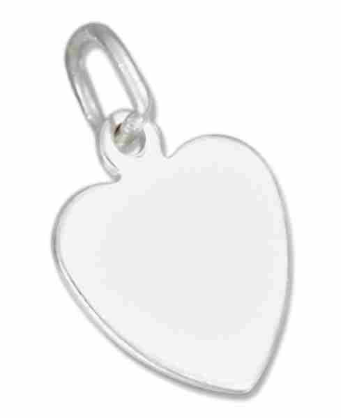 10mm Small Engraveable Flat Heart Charm