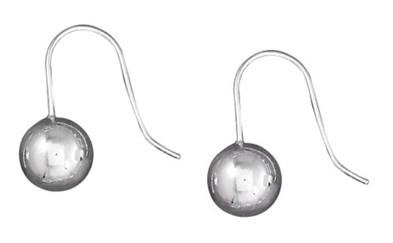 10mm Ball Earrings On Stationary French Wires
