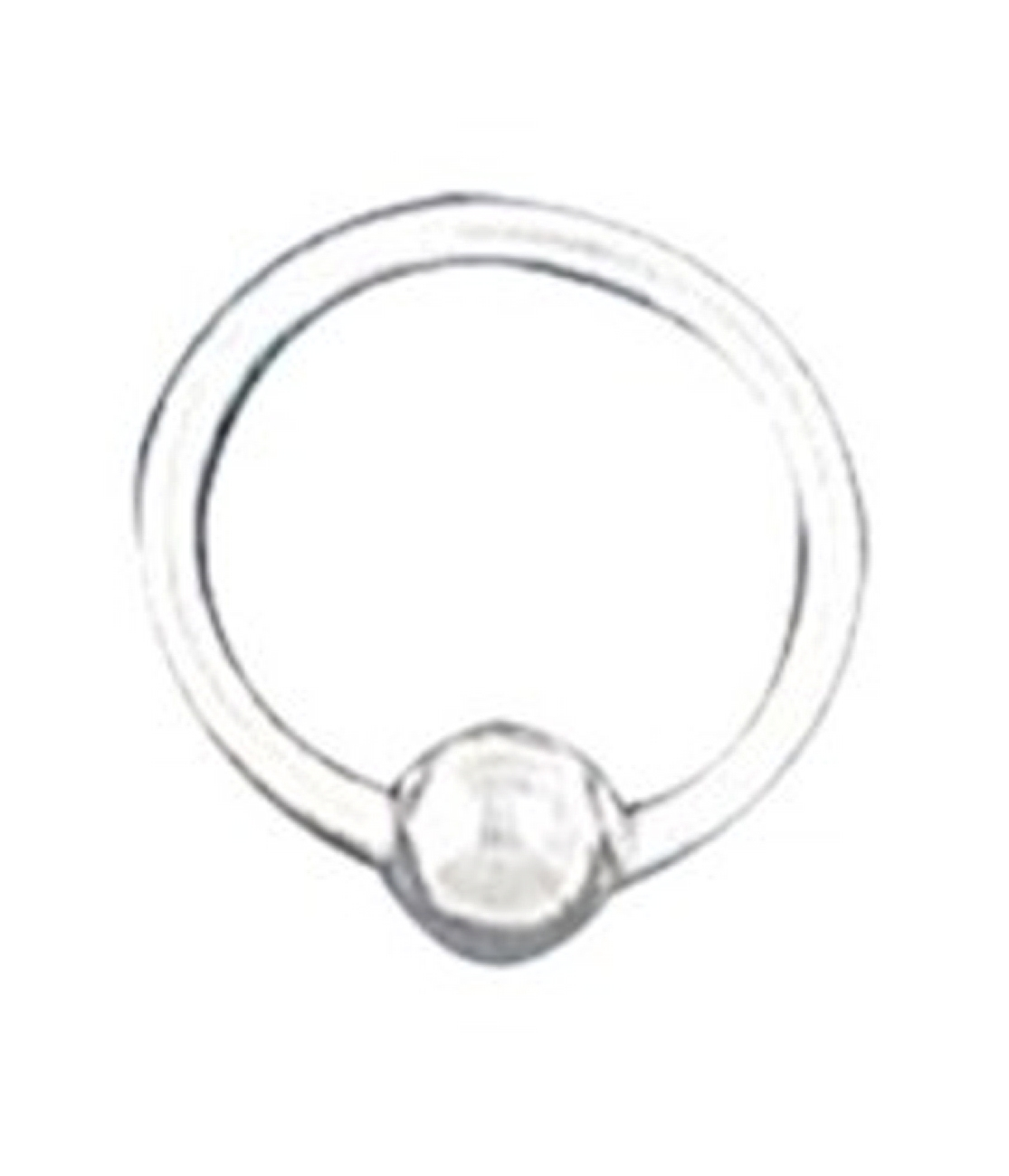 10mm Single Bead Ball Latch Endless Hoop Pierced Cartiladge Ear Cuff