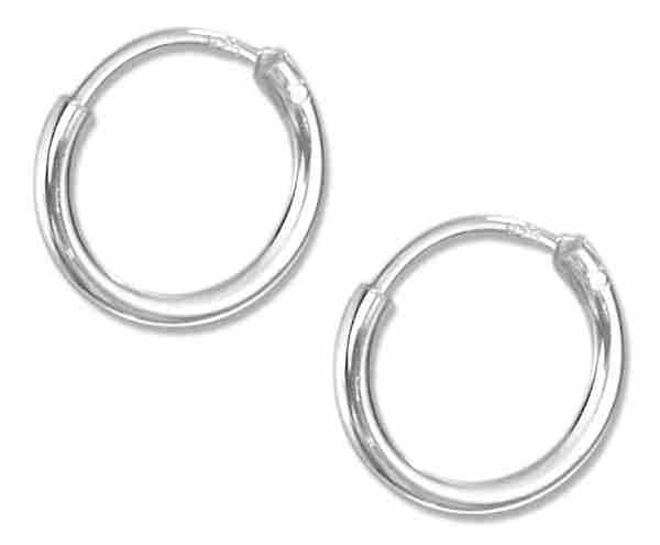10mm Diameter Endless Hoop Earrings