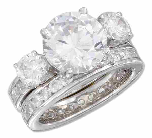 2 Band Cubic Zirconia Ring