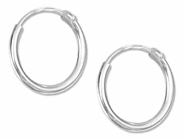 12mm Diameter Endless Hoop Earrings