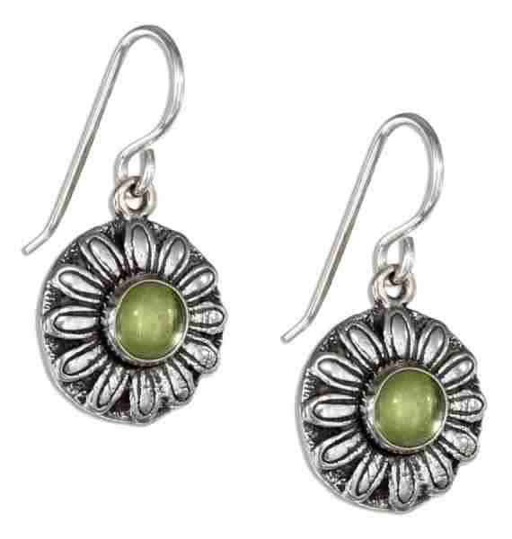 Peridot Daisy Earrings