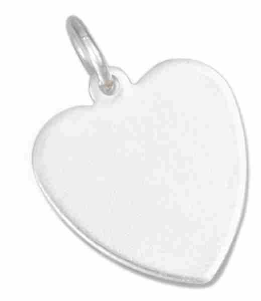 14mm Small Engraveable Flat Heart Charm
