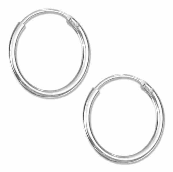 14mm Diameter Endless Hoop Earrings