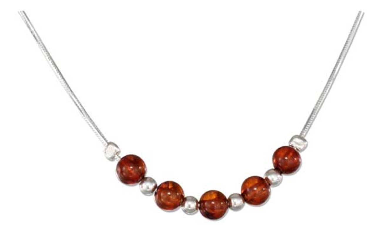 Honey Cognac Amber Beads Choker Necklace
