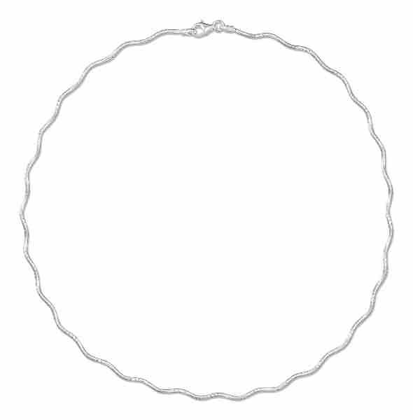 Round Omega Choker Necklace Wave
