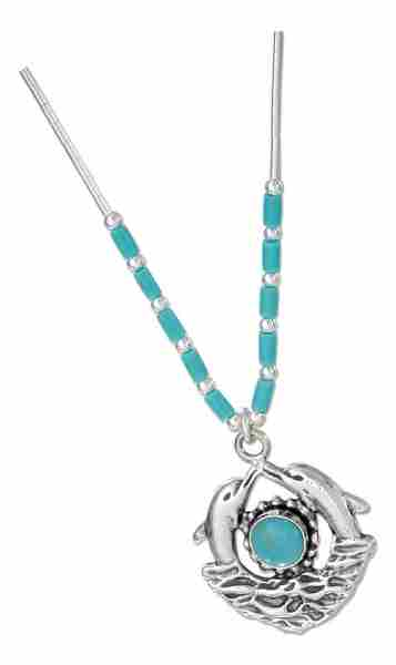 Dolphin Turquoise Choker Necklace