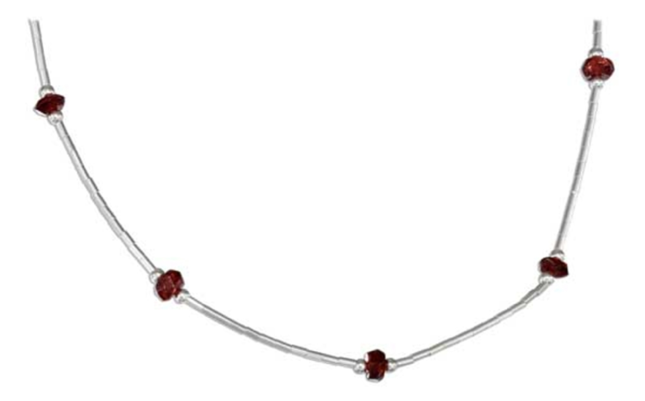 Garnet Beaded Choker Necklace