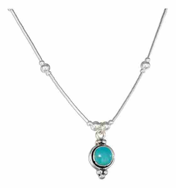 Turquoise Concho Choker Necklace