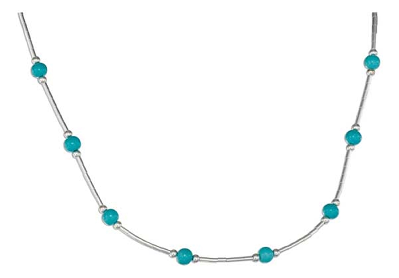 Turquoise Beaded Choker Necklace