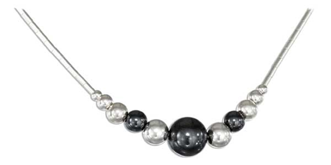 Hematite Beaded Choker Necklace