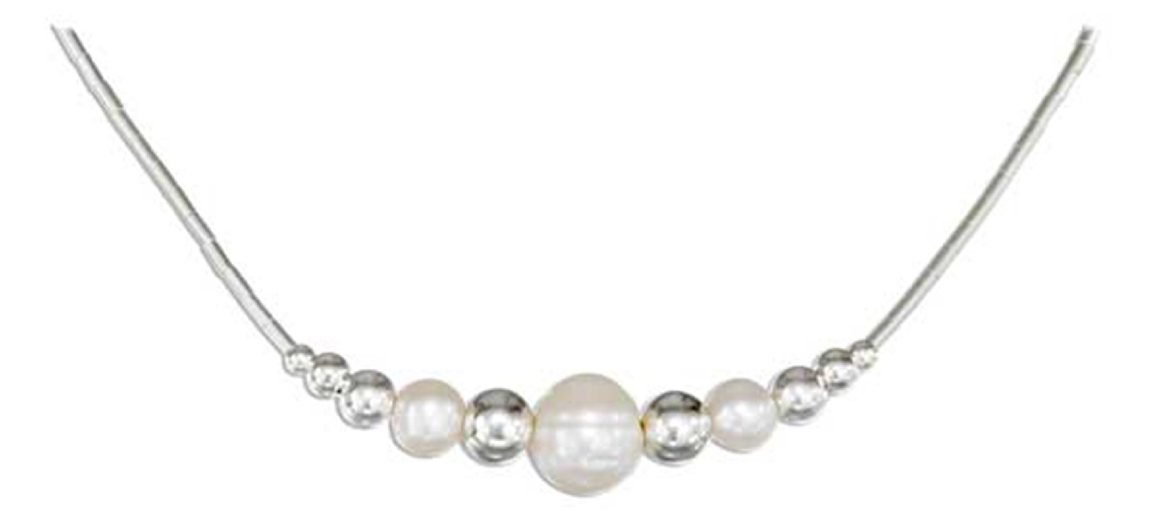 Single Strand Eleven Graduated Beads Pearl Choker Necklace