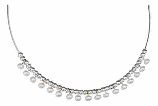 Beads Freshwater Pearl Choker Necklace