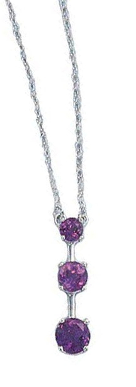 Yesterday Today Tomorrow Amethyst Pendant Necklace