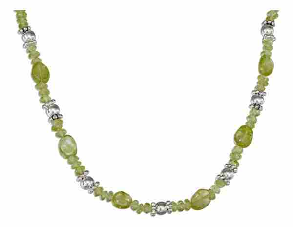 Peridot Necklace Beaded Spacers