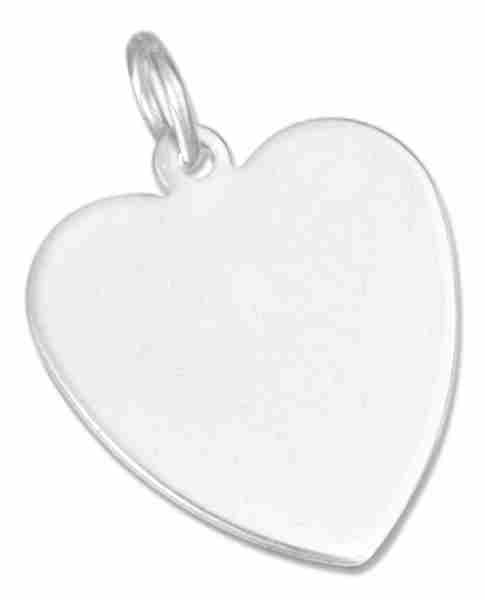 16mm Engraveable Flat Heart Charm