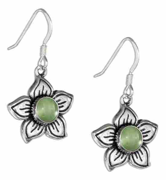 Flower Peridot Center Earrings