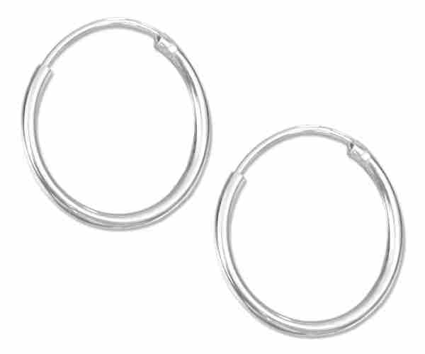 16mm Diameter Endless Hoop Earrings
