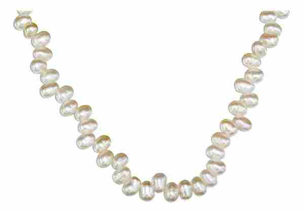 Freshwater Pearl Necklace White Stick Pearls