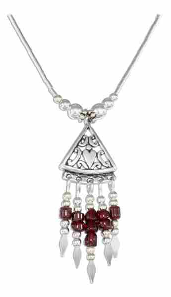 Garnet Heshi Necklace