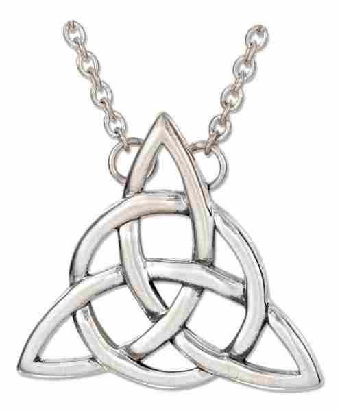 "18"" Antiqued Trinity Knot Circle Triquetra Celtic Cable Chain Ne"