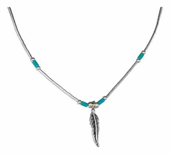 Necklace Turquoise Eagle Feather