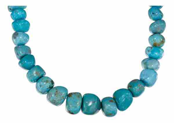Turquoise Nugget Toggle Necklace