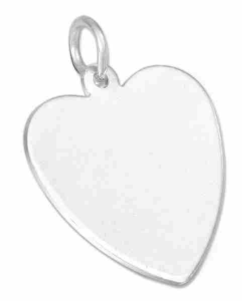 18mm Engraveable Flat Heart Charm