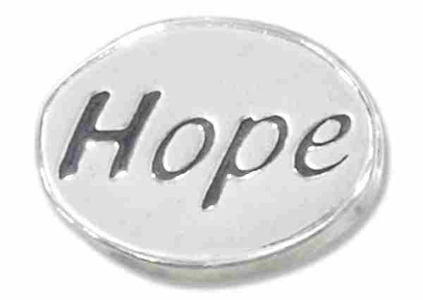 """HOPE"" Message Bead Spacer Bead Pendant"