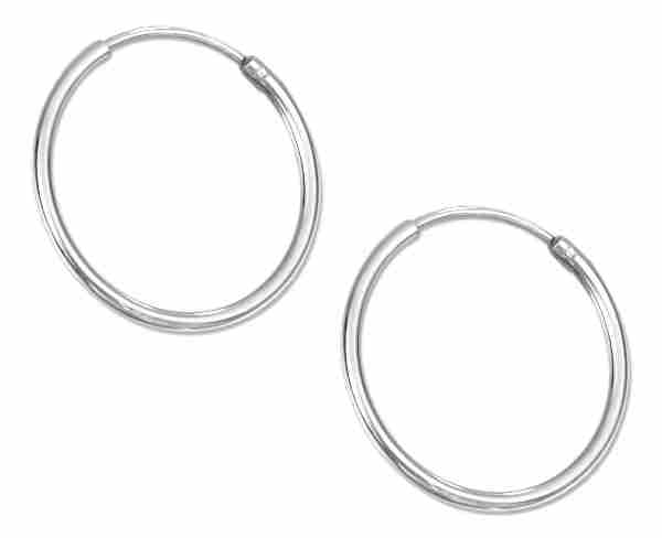 20mm Diameter Endless Hoop Earrings