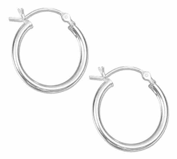 20mm Tubular Hoop Earrings