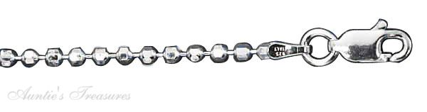 2.2mm Diamond Cut Bead Chain Necklace Bracelet Ankle Anklet 220