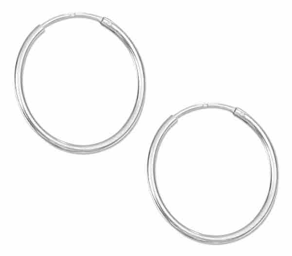 22mm Diameter Endless Hoop Wire Earrings