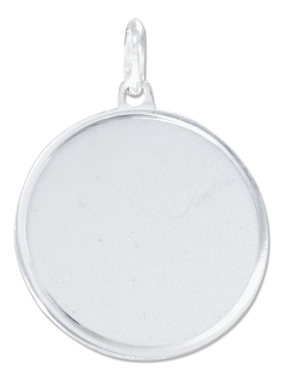 "15/16"" Engraveable Round Disc Tag Pendant Or Charm"