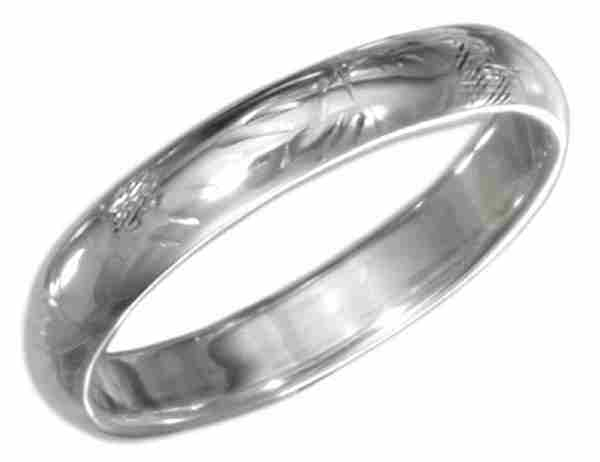 Unisex Scrolled Wedding Band Ring