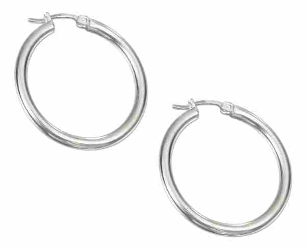 Tubular Hoop Earrings 38mm
