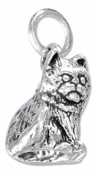 3D Sitting Kitten Cat Charm