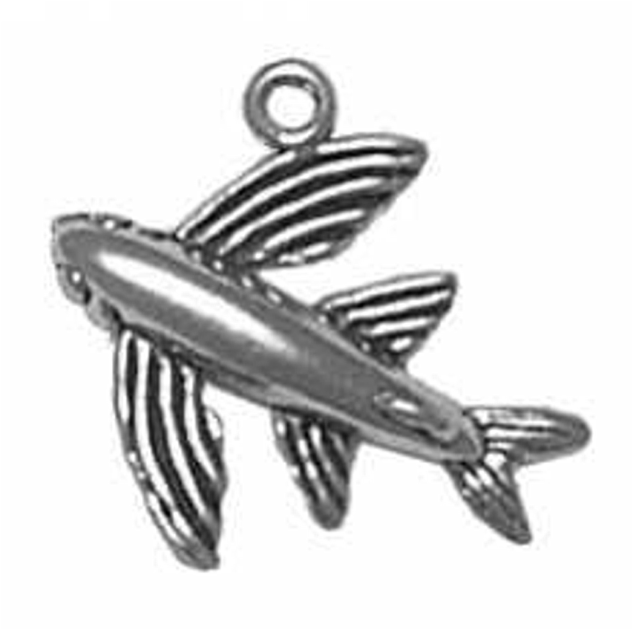 3D Flying Fish Charm