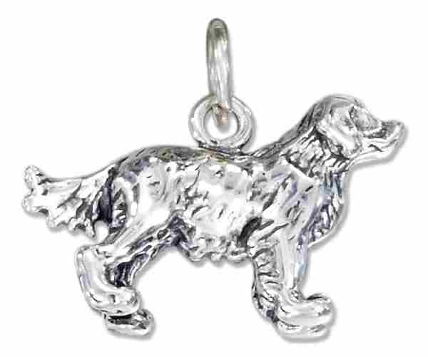 3D Golden Retriever Dog Breed Charm