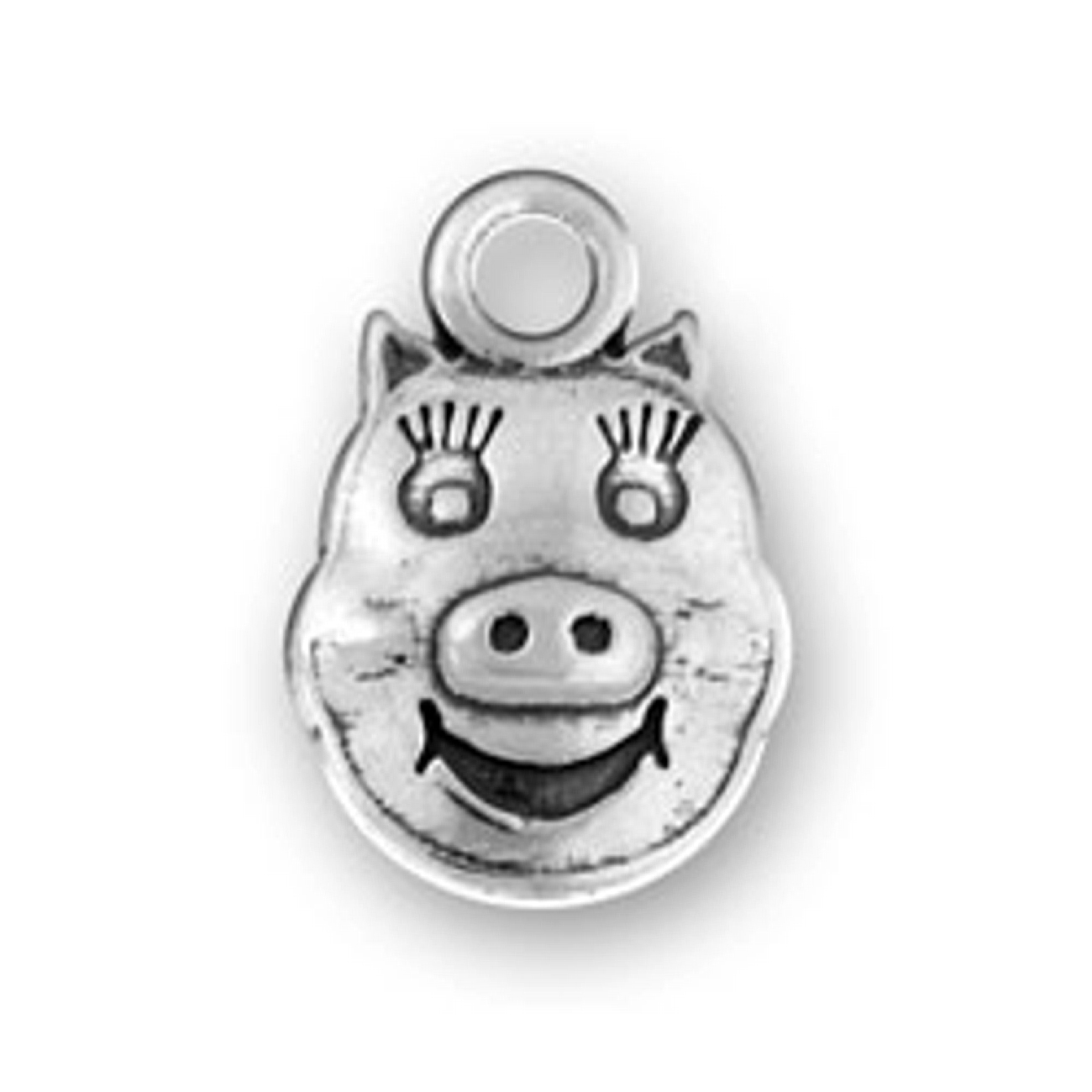 3D Pig Face Charm With Animated Features