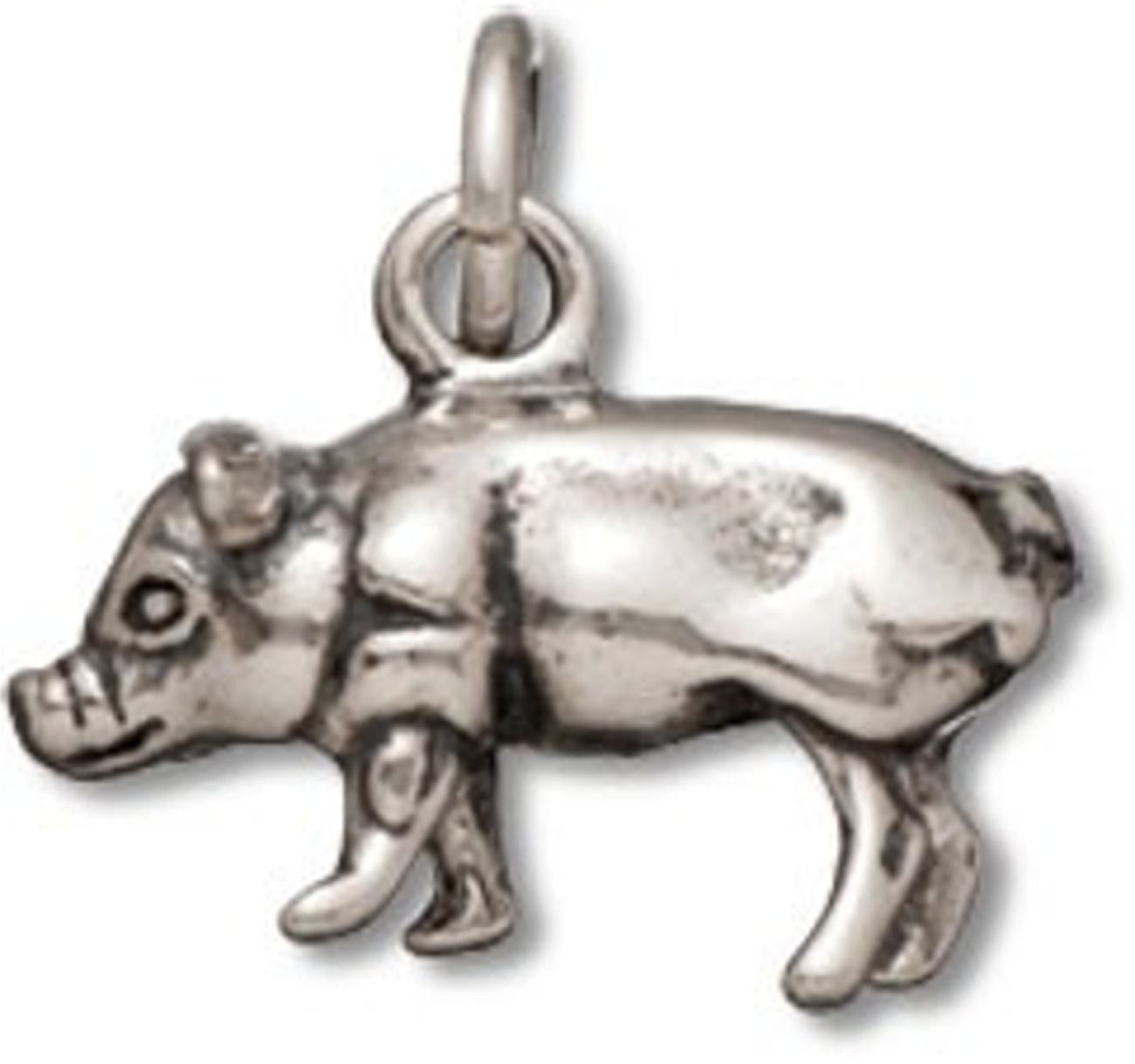 3D Standing Or Walking Piglet Hog Or Pig Charm