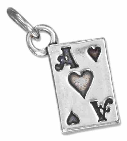 3D Good Luck Ace Of Hearts Poker Playing Card Game Charm
