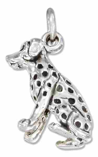 3D Dalmatian Dog Breed Charm