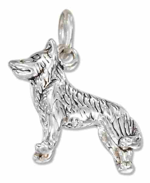 3D Siberian Husky Dog Breed Charm
