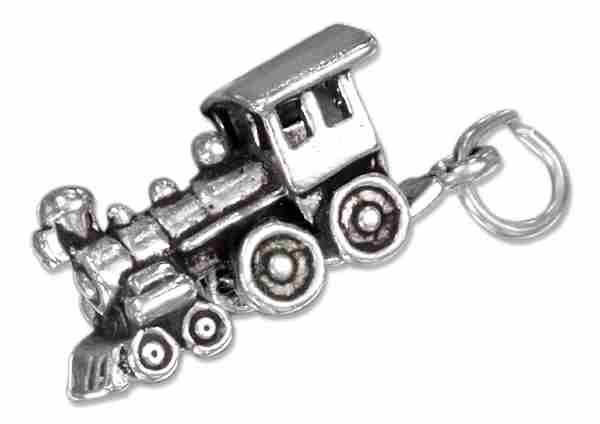 3D 4-4-0 Steam Engine Locomotive Train Charm